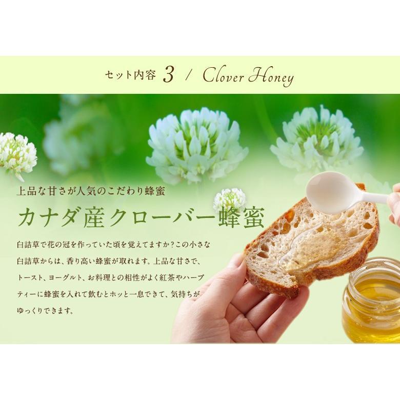母の日ギフト 蜂蜜3種とハーバリウムギフトセット 送料無料 はちみつ専門店 かの蜂|kanohachi|04