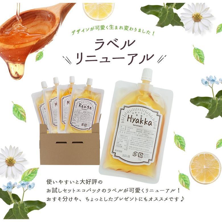 蜂蜜お試しセット エコパック  メール便送料無料 国産外国産の純粋はちみつ30種以上(1つ90g)から5つ選べる  蜂蜜専門店かの蜂|kanohachi|02