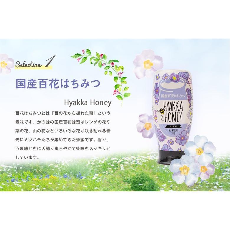 蜂蜜 ギフト ピュアハニープッシュボトル3種(国産・ヨーロッパ産・アルゼンチン産)セット PURE HONEY  国産蜂蜜 はちみつ 蜂蜜専門店 かの蜂 kanohachi 05