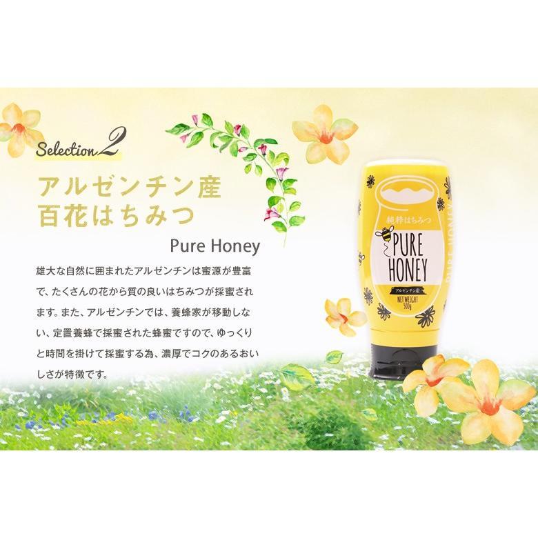 蜂蜜 ギフト ピュアハニープッシュボトル3種(国産・ヨーロッパ産・アルゼンチン産)セット PURE HONEY  国産蜂蜜 はちみつ 蜂蜜専門店 かの蜂 kanohachi 06