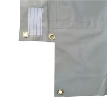 防音シート 遮音 工事用 建築 シート 足場ネット 灰色 グレー 1.8×3.4m 厚み0.48mm 5枚入 結束ひも付 BO-3 kanryu 05