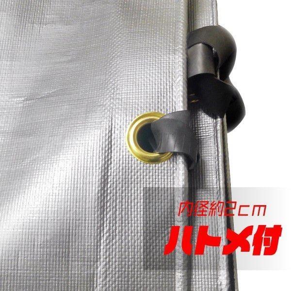UVコンテナシート 4t用 UV シルバー シート 紫外線防止 #4000 サイズ 5.0×3.2m ゴムバンド付 厚手 カバー 運搬 輸送 日本製|kanryu|03