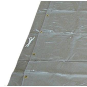 防音シート 遮音 工事用 土木 建築 シート 足場 ネット 灰色  グレー 国産  サイズ 1.8×3.4m 厚み1.0mm 2枚入|kanryu|04