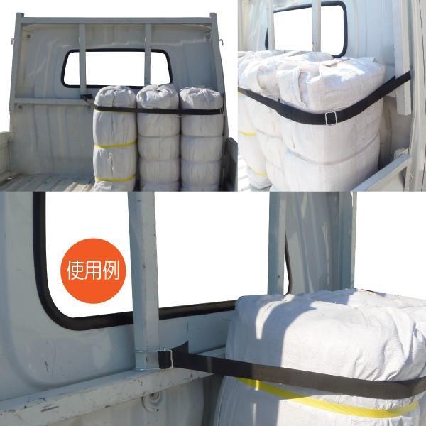 フック付きゴムロープ ゴムベルト 荷台ゴムロープ  台車ベルト 金具付 3本セット サイズ 幅3cm×長さ200cm×厚さ2mm Dフック バックル コキ kanryu 03