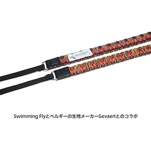 Swimming Fly and Gevaert ネックストラップ カメラストラップ ミラーレス一眼用 ビビットシャギーファイン 編みこみ レッド S|kansya-store|03