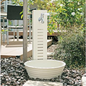 立水栓 水栓柱 水凛スタンド+陶芸ポット(ラルゴ)