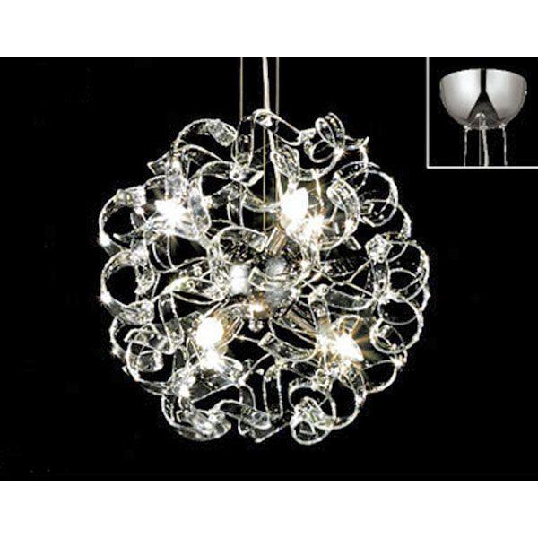 照明 シャンデリア リビング照明 照明 リビングシャンデリア インテリア照明 室内照明 LEDシャンデリア らせん (小)
