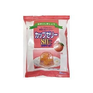 かんてんぱぱ 格安SALEスタート カップゼリー80℃ ピーチ味 公式サイト 約6人分X5袋入
