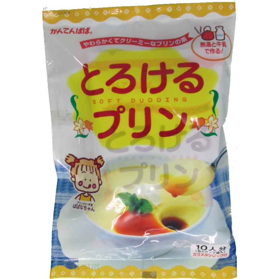 かんてんぱぱ とろけるプリン 10人分 カラメルシロップ付10個セット 毎週更新 日本最大級の品揃え 5人分X2袋入 210g