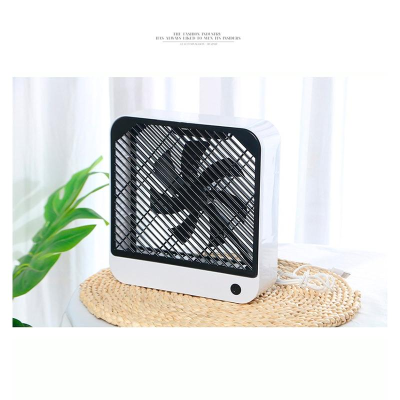 扇風機 スクエア型 USB充電 デスクトップ 風量調整可能風量2段階|karei|13