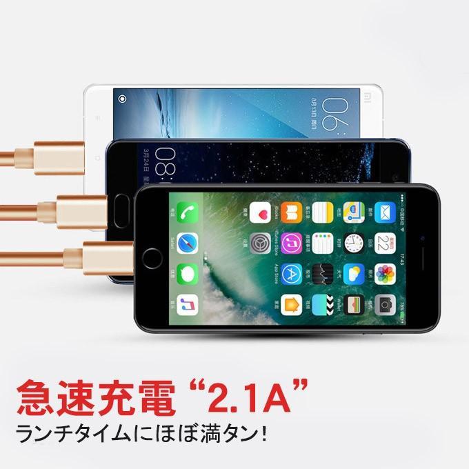 充電ケーブル 3in1 巻き取り iPhoneX XS Max XR iPhone8/8 Plus iPhone7/7Plus iPhone6/6s iPhoneSE ケーブル 3 in 1 USB to TypeC karei 02