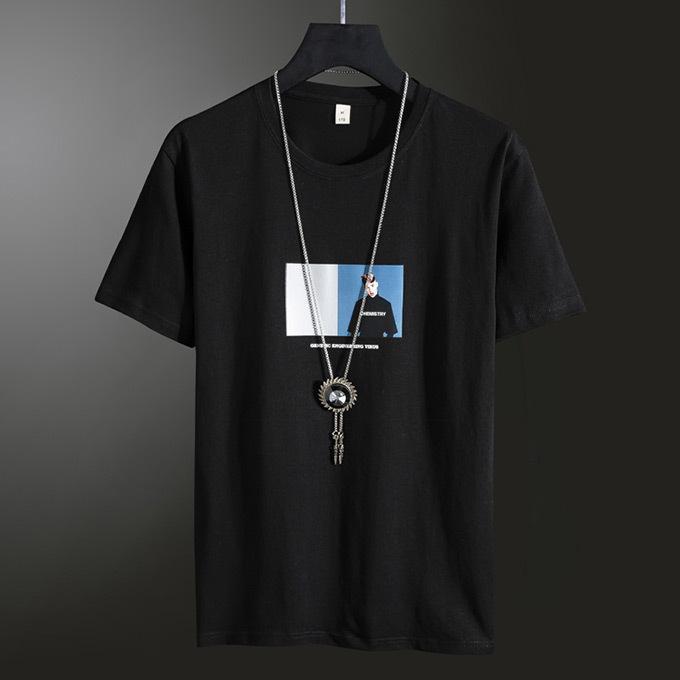 Tシャツ メンズ コットン プリント カットソー 半袖 トップス|karei|05