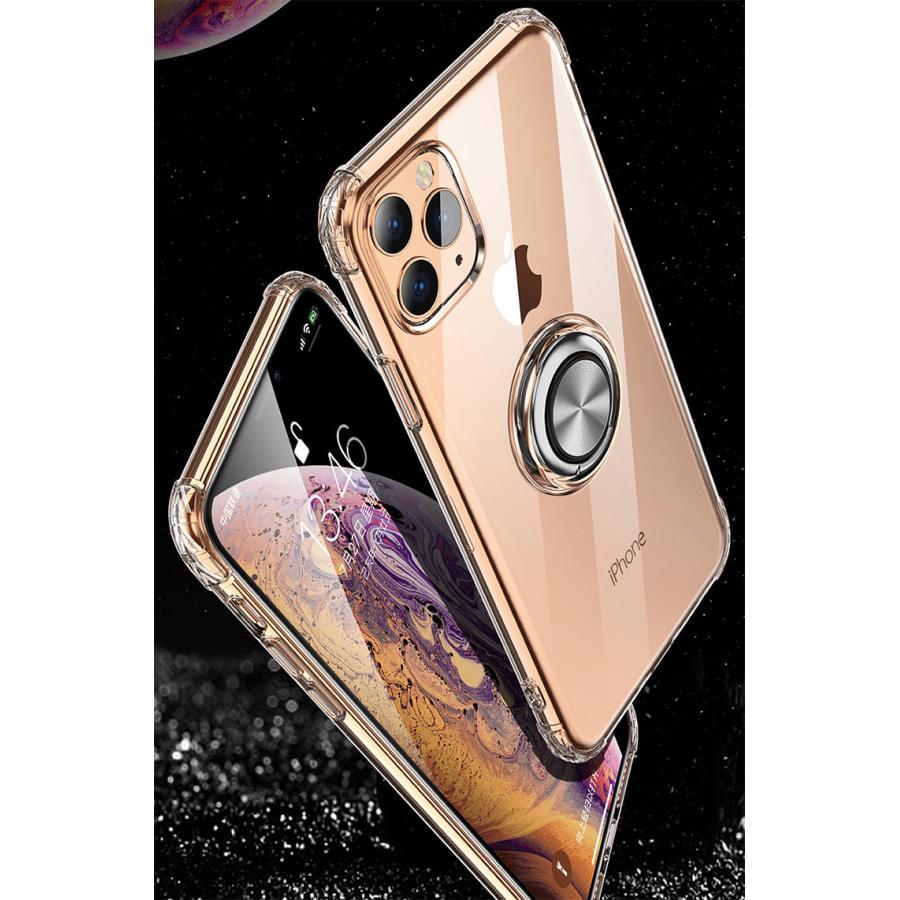 iPhone11 ケース 【ワンタッチで立ち上がるリング】iphone 11 カバー iPhone11 Pro iPhone11 Pro Max リング付 耐衝撃|karei|12