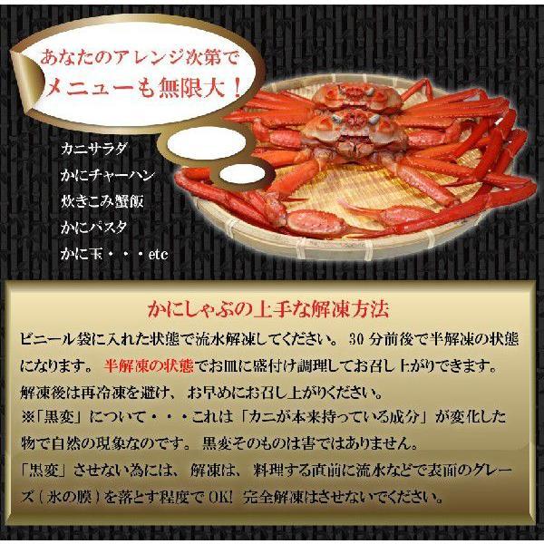 ズワイガニ ポーション カニ 訳あり かにしゃぶ しゃぶしゃぶ 紅 カニ鍋 海鮮 お家グルメ 巣ごもりグルメ 送料無料 蟹  北海道 蟹足 1kg|kassai|06