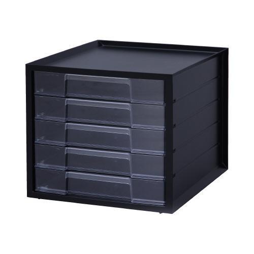 アイリスオーヤマ レターケース ブラック 4台 浅型5段 送料無料 登場大人気アイテム