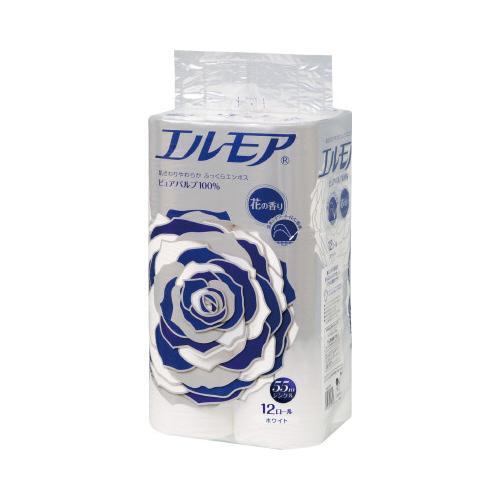 信用 カミ商事 エルモア 12ロール 完全送料無料 シングル 花の香り×8