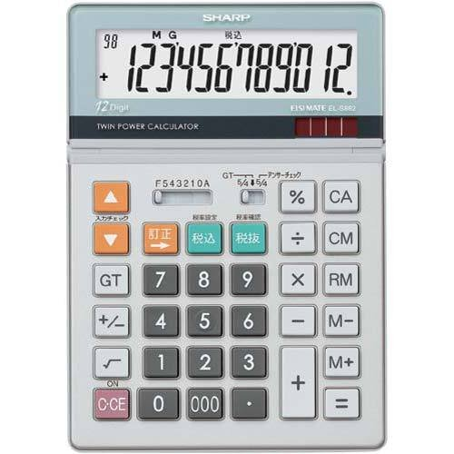シャープ 電卓 スーパーSALE セール期間限定 実務 EL−S882X 当店限定販売 セミデスクサイズ
