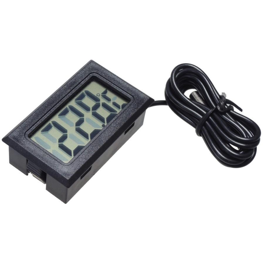 デジタル水温計 温度計 センサーコード長さ1m LCD 液晶表示 アクアリウム 水槽 気温|kaumo|04