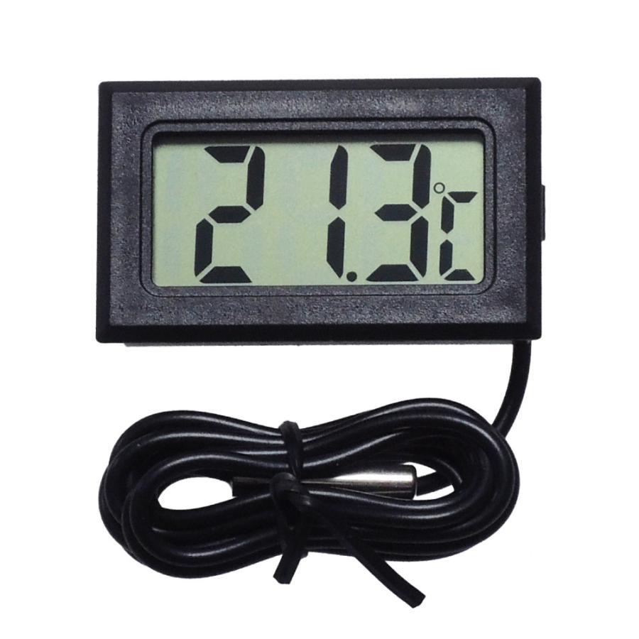 デジタル水温計 温度計 センサーコード長さ1m LCD 液晶表示 アクアリウム 水槽 気温|kaumo|05