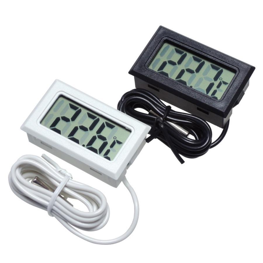 デジタル水温計 温度計 センサーコード長さ1m LCD 液晶表示 アクアリウム 水槽 気温|kaumo|06