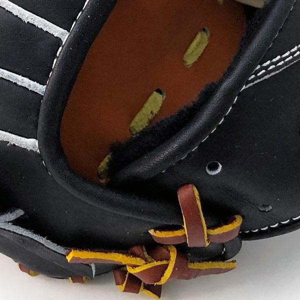 ジームス 軟式 グローブ ジュニア 少年用 三方親 湯もみ型付け済 野球 限定品 Z-20CJN 右投げ ブラック×タン|kawaisports|12