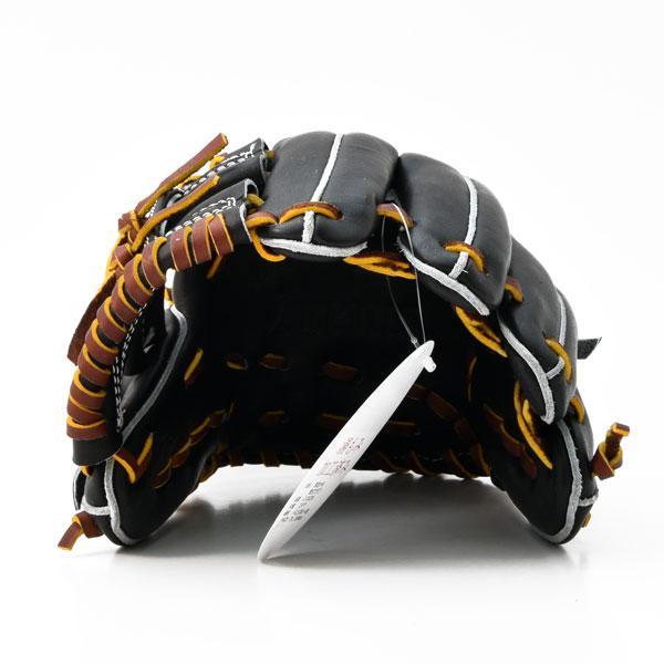 ジームス 軟式 グローブ ジュニア 少年用 三方親 湯もみ型付け済 野球 限定品 Z-20CJN 右投げ ブラック×タン|kawaisports|07