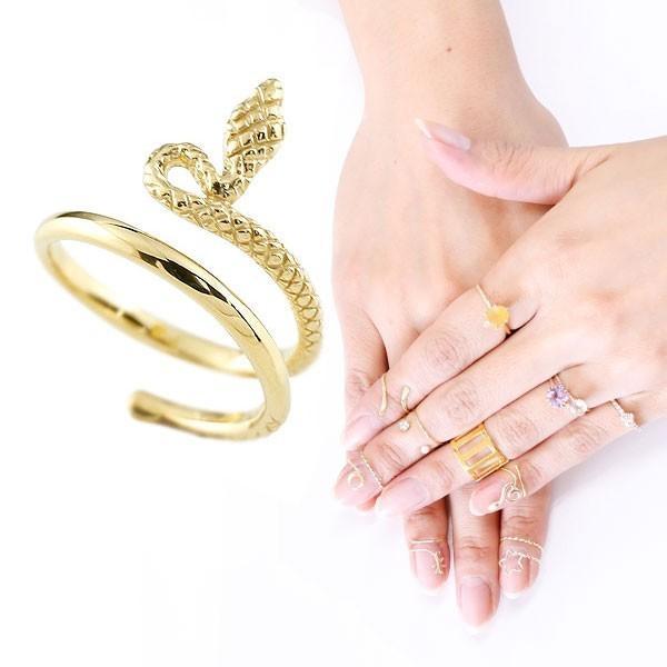 人気商品の ファランジリング ヘビ 蛇 ミディリング イエローゴールドk18 関節リング 指輪地金リング ピンキーリング 18金 レディース ネイルリング フリーサイズ, ノダチョウ 030360d7