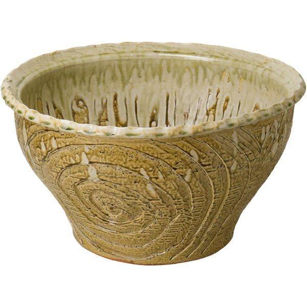 イラボガラス水鉢 19号 (信楽焼·陶器·水鉢·メダカ鉢·めだか鉢·金魚鉢·すれん鉢·スイレン鉢·睡蓮鉢)