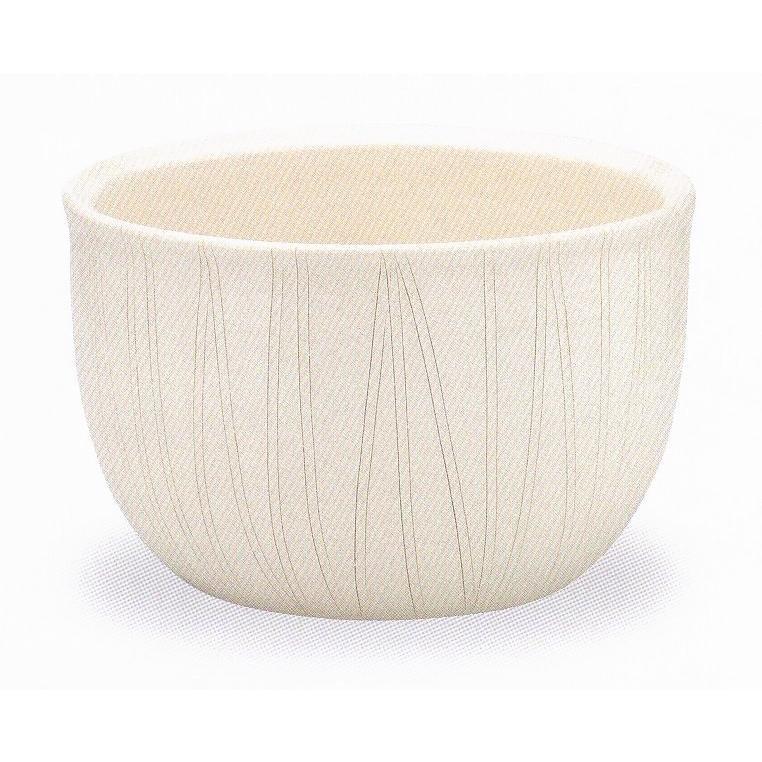 白立線水鉢 11号 (信楽焼・陶器・水鉢・メダカ鉢・めだか鉢・金魚鉢・すれん鉢・スイレン鉢・睡蓮鉢)