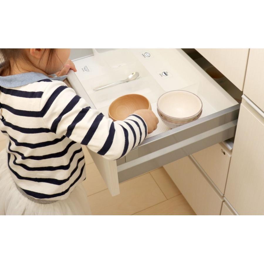 キッチンが綺麗に片づく食器めじるしシール 整理 収納 ステッカー 台所 目印 ラベル|kazokushuno|03