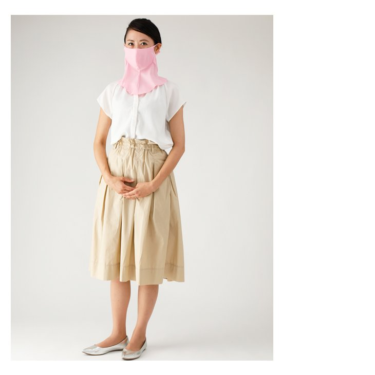 UVカット UPF50+ フェイスカバー ネックガード 日本 フェイスマスク ランニングマスク ネックカバー ランニング バフ 男女兼用 吸水性 速乾性 ウイルス対策|kazokuyasuragi|04
