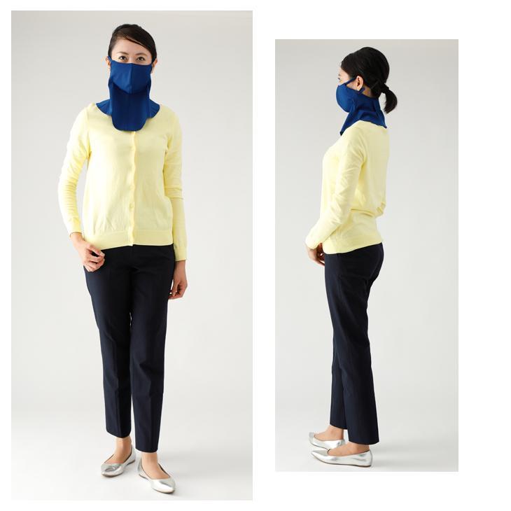 UVカット UPF50+ フェイスカバー ネックガード 日本 フェイスマスク ランニングマスク ネックカバー ランニング バフ 男女兼用 吸水性 速乾性 ウイルス対策|kazokuyasuragi|06