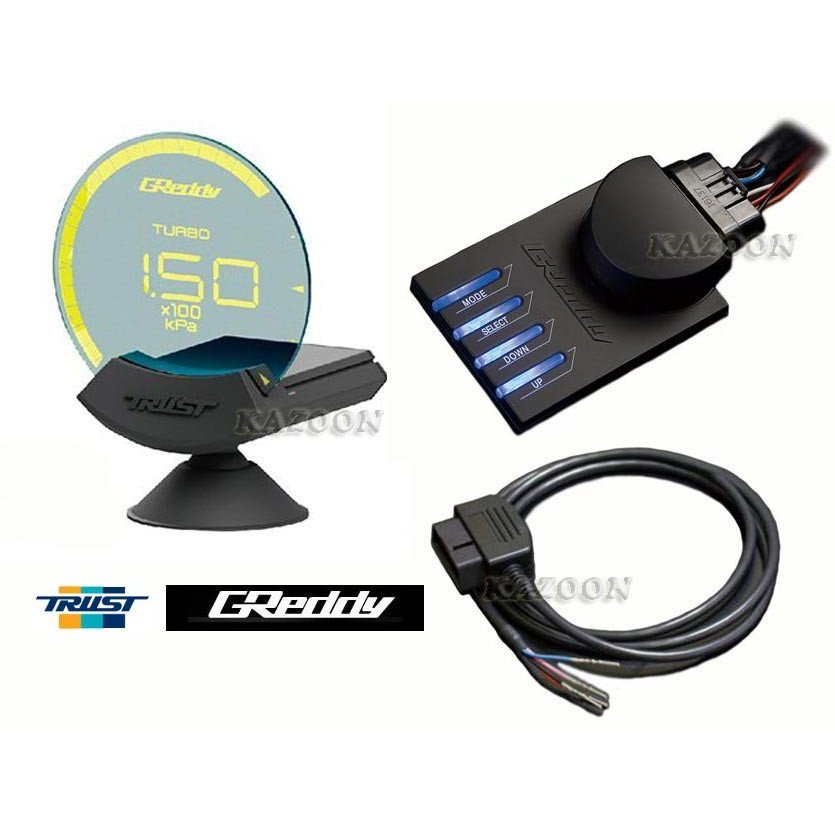 トラスト GReddy シリウス ヴィジョン OBDセット ISO CAN用 (6項目表示) コード: 16001750 (TRUST GReddy Sirius Vision OBD-Set for ISO CAN)