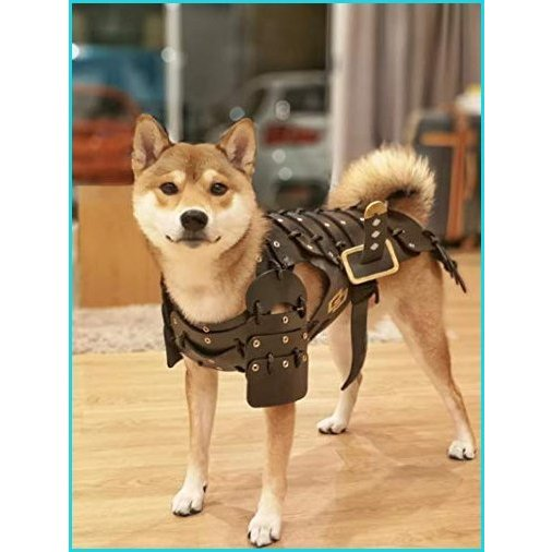 HOT! Japanese Style Handmade Dog Costumes Samurai Armor for Dog Fashion Cosplay for Medium Dog Made from Foam Rubber (L, Black)【並行輸