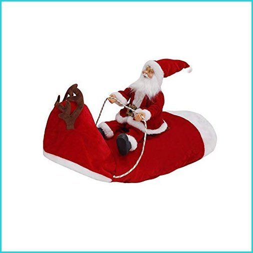 WAGA Santa Claus Riding on Dog Christmas Costume Christmas Pet Clothes for Small Large Dogs Cats【並行輸入品】