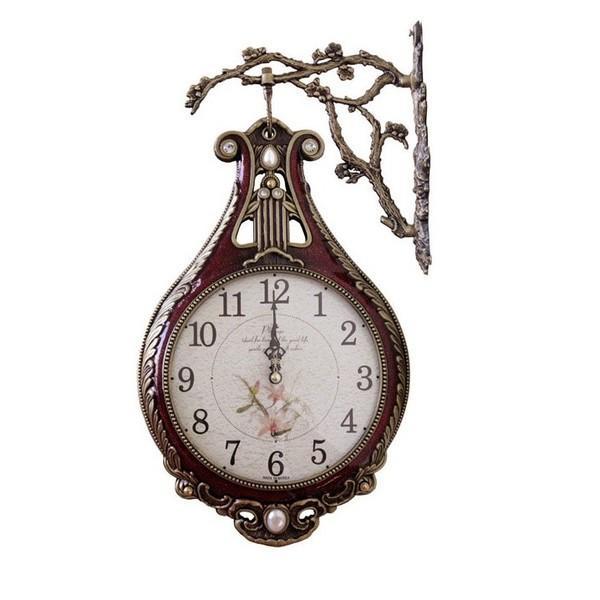 両面時計 掛け時計 ハーフ両面時計-紫の シンプル 両面時計おしゃれ 両面時計アンティーク 壁掛け時計両面時計 北欧 時計