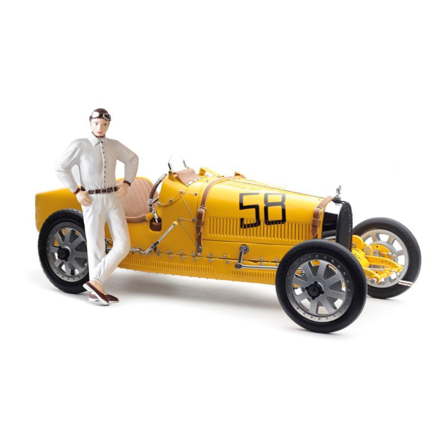 CMC/シーエムシー ブガッティ T35 1924 イエロー 女性ドライバーフィギュア付