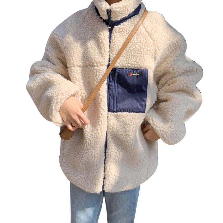 レディース ボアジャケット ボアコート アウターコート ブルゾン ボア もこもこ 防寒 カジュアル 冬 ゆったり アウトドア 暖かい|kbr-shop