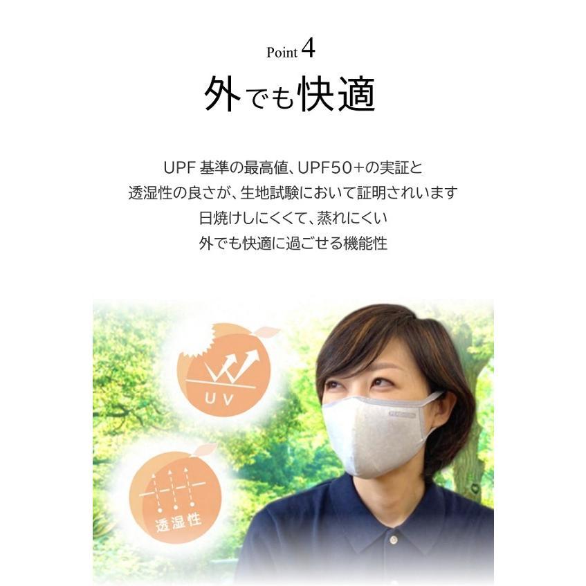 肌に優しい マスク 立体 日本製 話しやすい 呼吸 立体 肌荒れ しない 布 快適 綿 おしゃれ 洗える 吸水速乾 UVカット 春夏ピーチテックオフィストーク 小林縫製|kbsb|15