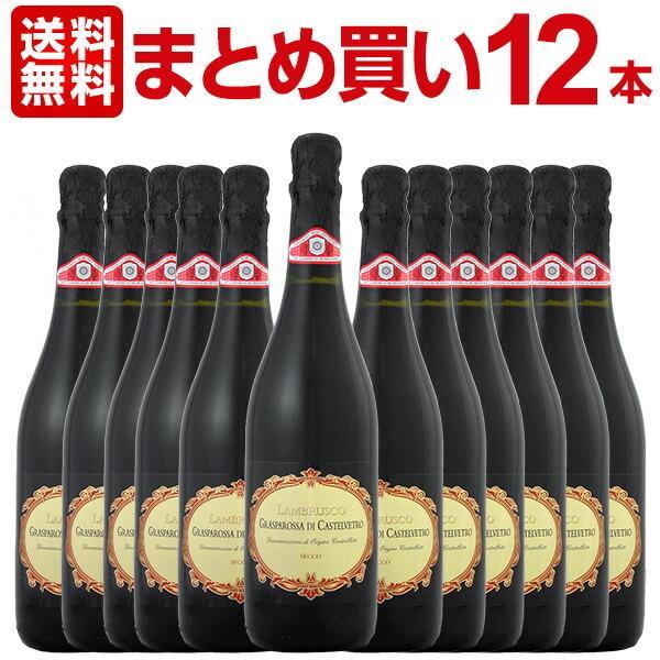 格安 価格でご提供いたします 赤ワイン セット イタリア 12本 750ml wine set 2020新作 微発泡 Italy セッコ ペデモンターナ フォルミージネ ディ カステルヴェトロ ランブルスコ グラスパロッサ