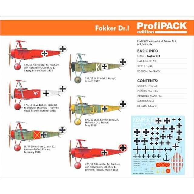 Eduard 8162 1//48 Fokker Dr I