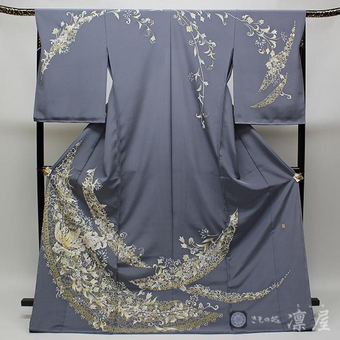 加賀友禅 訪問着 吉村伊佐子「洛陽に浮ぶ銀の舟」|kd-rinya
