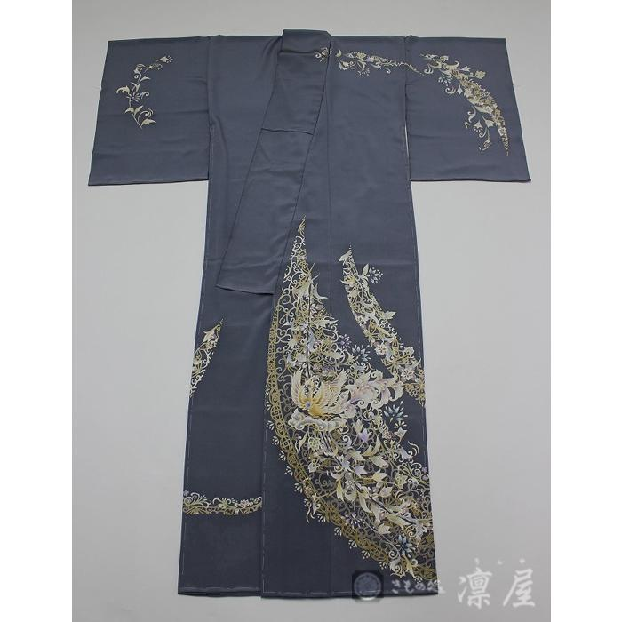 加賀友禅 訪問着 吉村伊佐子「洛陽に浮ぶ銀の舟」|kd-rinya|04