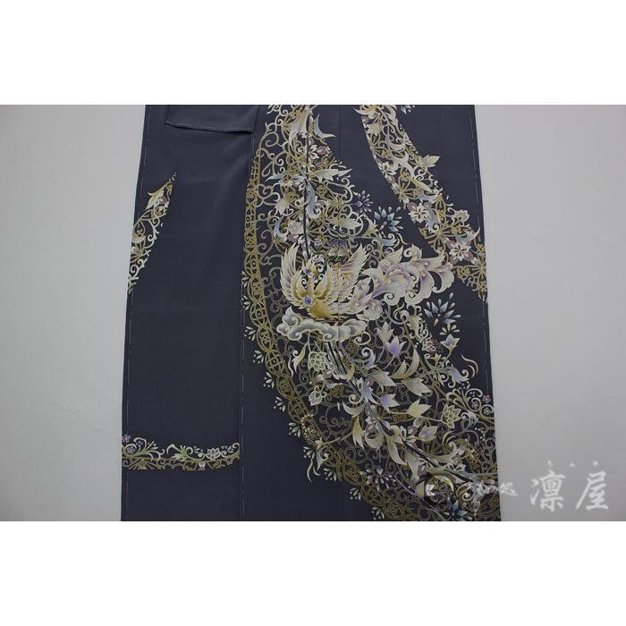 加賀友禅 訪問着 吉村伊佐子「洛陽に浮ぶ銀の舟」|kd-rinya|05
