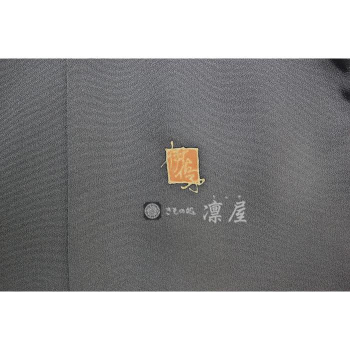 加賀友禅 訪問着 吉村伊佐子「洛陽に浮ぶ銀の舟」|kd-rinya|06