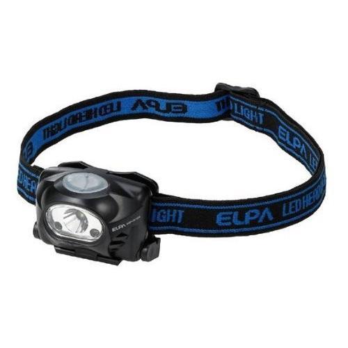 (まとめ買い) ELPA LEDヘッドライト 70lmセンサー付 DOP-HD103S ×3