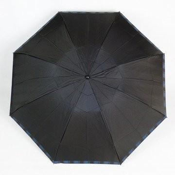 高級甲州織 メンズ 折りたたみ傘 「Tie」 (表)無地 × (裏)ストライプ D・NAVY 濃紺 江戸時代から140年以上の歴史を持つ甲州
