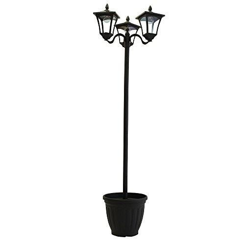 植木鉢付きソーラー街灯 3灯タイプ