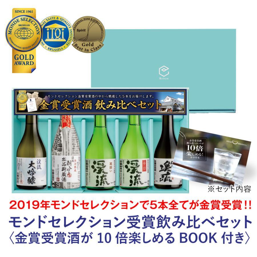 敬老の日 2021 日本酒 あすつく モンドセレクション 金賞 受賞酒 飲み比べセット 300ml 5本|keiryu-endo|02
