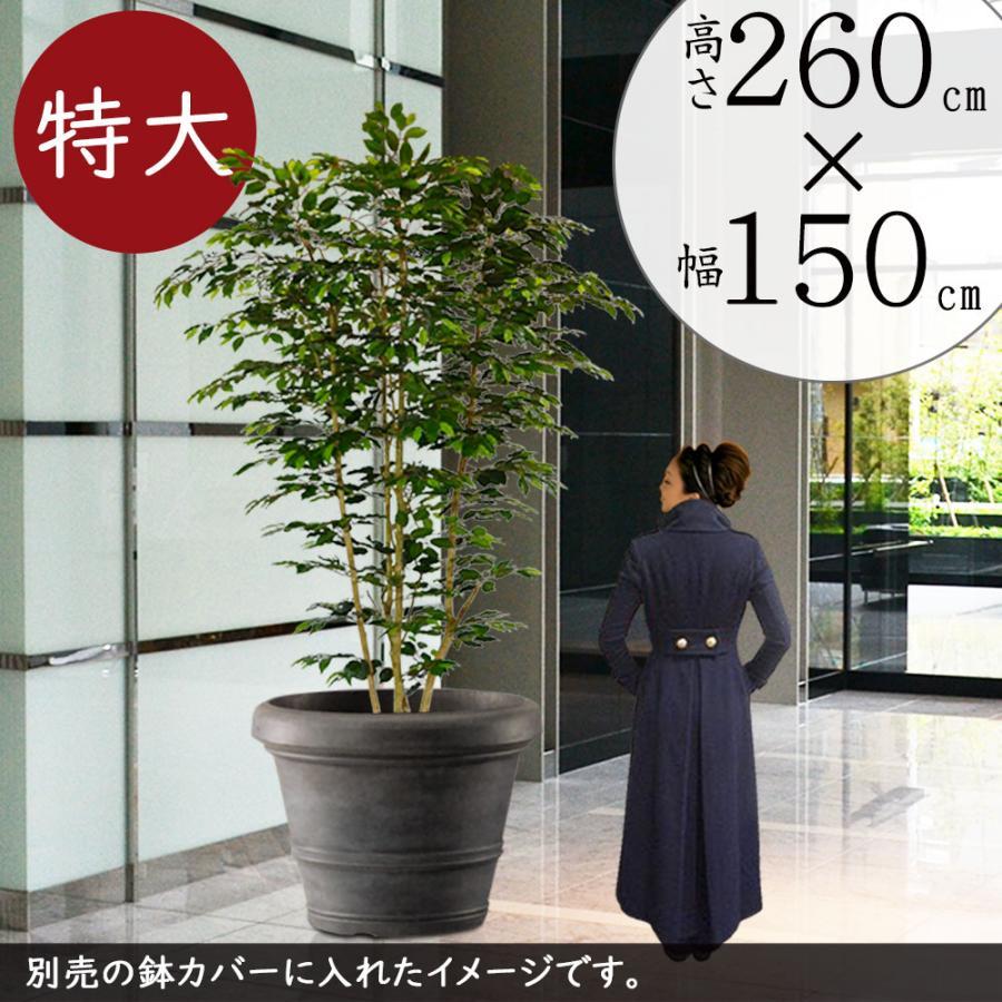 好評 全高2.6m×全幅1.5m 大型 ベンジャミン ワイドロング(配送制限あり)(造花 フェイクグリーン 特大 ワイド 人工 観葉植物 フィカス)(bst-sp001)